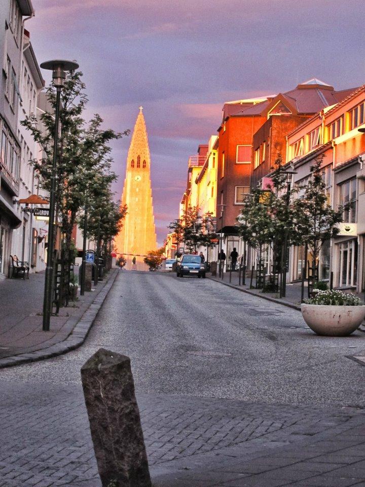 Hallgrimskirche Mitternachssonne