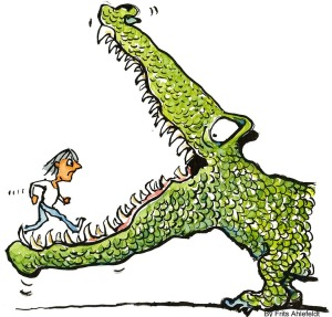 challenge Herausfrderung Krokodil PublicDomainPictures
